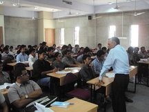 Prof K Madan teaching at Gujarat National Law University