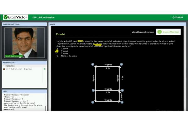 Screenshot of Live Doubt Session taken by Vivek Sir in DLA DU LLB Online Course